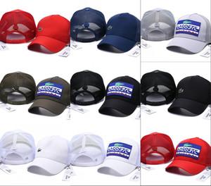 Nueva moda para hombre diseñador Snapback Gorras de malla Strapback Gorra de béisbol Deporte al aire libre Hip hop gorras Sombreros Mujeres cocodrilo Sombrero hueso casquette
