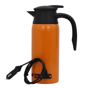 General Car Electric Kettle 12V24V Car Boiling Water Cup Coffee, Soak Milk Stainless Steel Vacuum Flask