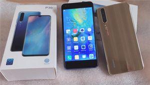 Huawei p30 Smartphone-Handys 5,5 Zoll 3D Android 8,1 MTK6580A Quad Core Handy Dual Sim zeigen 4 GB RAM 64 GB ROM 3800 mAh gefälschte 4G LTE DHL