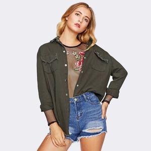 2019 new style pocket fringed jacket cardigan with long sleeves