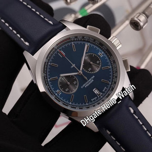 Nuovo Premier B01 cassa in acciaio AB0118A61C1P1 VK Quarzo Cronografo Mens Watch Cronometro Quadrante Blu cinturino in pelle orologi Hello_Watch BRE-C22