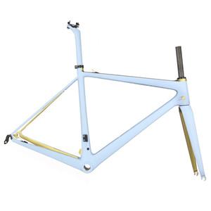 Cadre de vélo de route de roue en fibre de carbone super léger, cadre en carbone de vélo T1000 FM686. Cadre de la route personnalisée