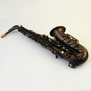 새로운 브랜드 알토 색소폰 황동 블랙 니켈 래커 Eb 조정 색소폰 고품질의 악기 색소폰 무료 배송