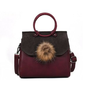 Handbag Scrub Bag Type For Female Tote With Pom Pom. Can Use As Small Purse Also.2020 New stylish Hand Bag HIGH QUALITY.