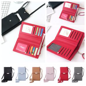 Portafogli Card Pack Borse a spalla PU Leather Women Mini Money Stuff Sacchi Catena Borse per telefoni cellulari Borse da donna Portamonete Borsa a tracolla