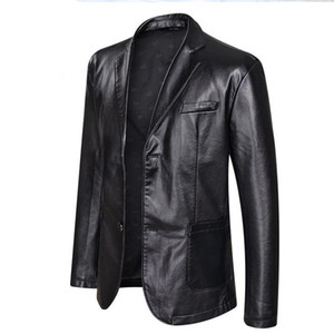 Boyut Mens Big PU deri ceket Casual Tek Breasted Giyim Coats Tasarımcı Ceket 5XL 6XL Artı