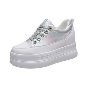 fond épais augmenté chaussures jaune femme 2019 nouvelle version coréenne des étudiants de tempérament marée de Harajuku chaussures causales femme Chaussures de mode