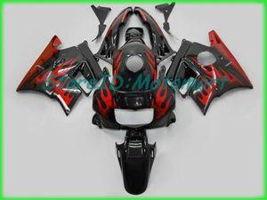 Обтекатель мотоцикла для HONDA CBR600F2 91 92 93 94 CBR 600 F2 1991 1994 ABS Красный огонь черный обтекатель комплект + подарки HF11