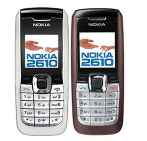 Téléphone cellulaire débloqué d'origine pour Nokia 2610 Anglais Russe Arabe Clavier 2G GSM 900 1800 MHz Double Bande Multilingue