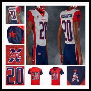 Custom XFL Houston Houston Football Jersey Jersey PJ Walker Kahlil Lewis Sam Mobley Andre Williams Nick Cam Phillips Brown cousue 4xl