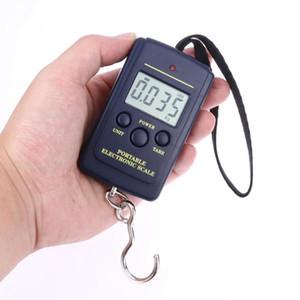 10G 40 KG Dijital Terazi Ev LCD Ekran Asılı Kanca Bagaj Balıkçılık Ağırlık Ölçeği Moda Taşınabilir Mini Elektronik Terazi OOA10006