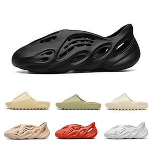 450 пены бегун Канье Уэст забивают сандалии черный тройной слайд мода тапочки женщин мужские сопровождающие пляжные сандалии скольжения на обувь 36-45