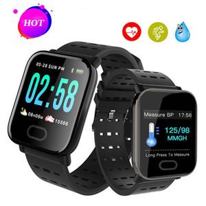 A6 android smart watch erkekler kan basıncı çalar saat nabız ios smartwatch İzle erkekler spor izci izle