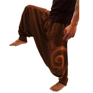 As calças dos homens streetwear étnico impresso Macacões Casual bolso Esporte Yoga Trabalho Mens Casual Cool Designer Marca calças Calças E23
