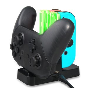 Yoteen لشاحن Joy-Con Switch لجهاز نينتندو 4 في 1 USB لشحن وحدة التحكم Pro