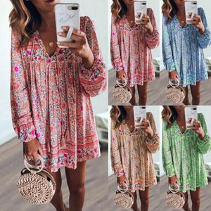 Summer Dress 2020 New Hot sale in Europe and America Fashion dress Women's Printed skirt dress