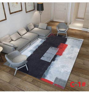 Factory wholesale modern minimalist art abstract ink carpet living room bedroom Nordic style rectangular carpet SZ543