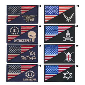8 pz VP-86 3 * 2 pollici 3D ricamato patch Punitore bandiera degli Stati Uniti cane da pastore Marines Tactical Isaf Attack Badge patch badge all'aperto