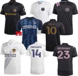 Inter Miami Socer Jersey 2020 2021 La Los Angeles Galaxy FC Lafc Beckham 20 21 Vela Chicharito MLS Inter Miami CF Herren Football Hemden