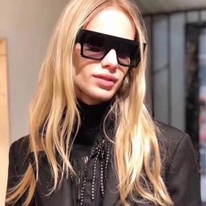 Оптовые-винтажные солнцезащитные очки Audrey Fashion Women Designer Большая рамка с откидной створкой Негабаритные верхние солнцезащитные очки Leopard Pc Планка Материал рамы