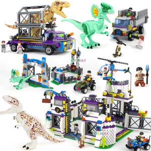 Dinosaurio Parque Jurásico dinosaurio juguetes del bloque de montaje pequeña partícula juguetes del bloque