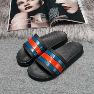 gucci Venda quente marca designe homens mulheres chinelo praia engrenagem de slides bottoms mens sandálias listradas causal antiderrapante verão huaraches chinelos chinelos