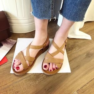 Current2019 Code Will Woman Fish Mouth Sandals Flange Flat Bottom Women's Shoes
