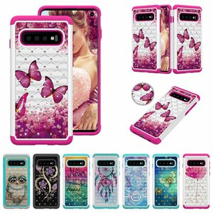 Hybrid Beauty Diamond Glitter Bling Case for Samsung Galaxy S10 S10 Plus S10e Note 9 S9 S9 + J2 Core J7 Prime J7 J3