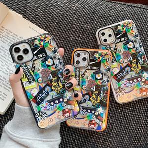 ins coréen élégant peaceminusone x cas Fragment étiquette fleur pour iPhone 11 Pro X XS MAX XR 8 7 plus souple en silicone couverture Capa