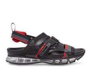 19SS Brand Fashion Mensstriped Sandals Causal antideslizante Summer Huaraches Slippers Chanclas Magic Tie Women Suicoke Slippers Webbing FF F