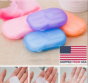 140 Sheets Paper Soap Portable Travel Hand Washing Soluble 7 Mini Boxes-From USA