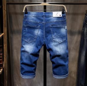 2019 дизайнер Mens Denim Shorts горячего способа продажи Омывается вышивки Знак Straight Мода джинсы Азиатский размер Бесплатная доставка оптом