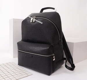 Top Quality novo estilo de design de Luxo Mens duplo ombro mochila marca bolsa para Laptop das Mulheres Grande Estudante Mochila de couro ao ar livre sacos de viagem