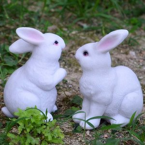 Easter Decorations for Home New Year Cute Rabbit Figurines Miniature Tabletop Ornaments Fairy Garden Other Home Decor