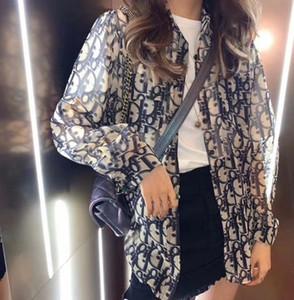 letra impressa camisa ostenta jaqueta top casuais mulheres novo protetor solar frete grátis