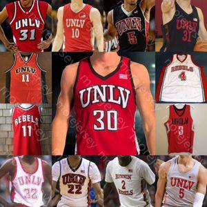 CUSTOM UNLV rebeldes Basketball Jersey NCAA COLEGE AMAURI HARDY ELIJAH MITROOU-LONG TILLA DE LONDO BRYCE HAMILTON MBACKE DIONG ANTONIO NICK BLAIR