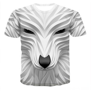 2020 New 3D Wolf Head Cool Mens Funny animal fashion unisex casual tshirt Men's Tees & Polos Men's Clothing Summer street quickdrying fashio