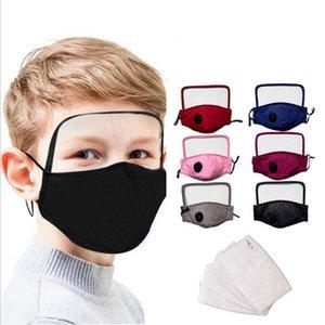 HOT Kids 2 в 1 Маска для лица глаз Щит Cotton Eye Маски для лица Встроенная защитная пылезащитные Открытый рот Обложка DDA108