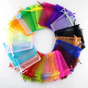 Organza regalo borse gioielli regalo di nozze Pouch Draw String Candy Birthday Party di Capodanno Gift Bag Mazzo di Filati Borse Candy Bag YP404