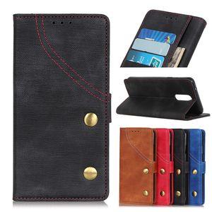 Denim texture Wallet Case para Oppo Realme 3 2 C2 X A5 A7 Flip Cover Case para Oppo RENO 5G 10X K1 K3 R17 NEO AX5 AX5S F11 Pro A1K Phone Case