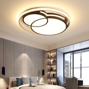 아크릴 얇은 LED 둥근 천장 램프 간단한 현대 북유럽 창조적 인 침실 램프 홈 포스트 현대 미술 실내 조명 I223
