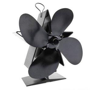 4 cuchillas de energía térmica Chimenea Otros accesorios accesorios del juego de calor accionada Estufa de madera del registro estufa de leña Ecofan Inicio Heat Fan D Eficiente