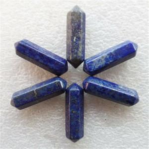 10шт лазурит шестиугольная призма CAB CABOCHON 35x8mm случайная отправка