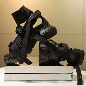 Platform Ro Sandals For Men Transparent Thick Sole Men Summer Shoes Big Size Sandalia Masculina 12#21 20D50