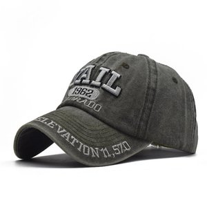 2020 new cotton made old washed 1962 embroidery baseball cap outdoor Korean version of the sun hat summer male cap