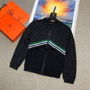 Fashionable elegant coat windbreaker long-sleeved men's jacket hoodie clothing zipper animal alphabet pattern large size clothes M-3XL03