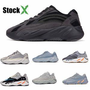 2020 Azael Alvah 700 V3 Mens Designer Shoes Kanye West incandescenza bianca In Dark modo di alta qualità del progettista donne degli uomini addestratori correnti Wit # DSK419