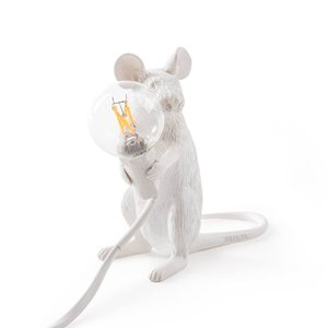 SELETTI moderne Résine Souris Lampe de table LED E12 souris table Lampes de bureau nordique chambre d'enfants Décor LED Night Lights UE / UA / US / UK Plug
