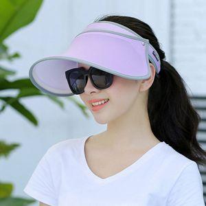 Güneş Koruma Şapka 6 Renkler Kadınlar Açık Çift Katmanlı Güneş Şapkası Yaz Karşıtı UV Binme Şapka saçakları LJJO7936