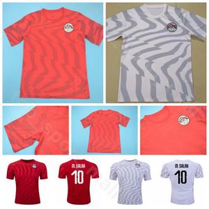 2019 2020 homens Jersey Egito 10 Futebol SALAH 11 ELEGÊNIO 7 TREZEGUET 6 HEGAZI 11 KAHRABA 7 FATO Camisa de Futebol Kits Uniforme